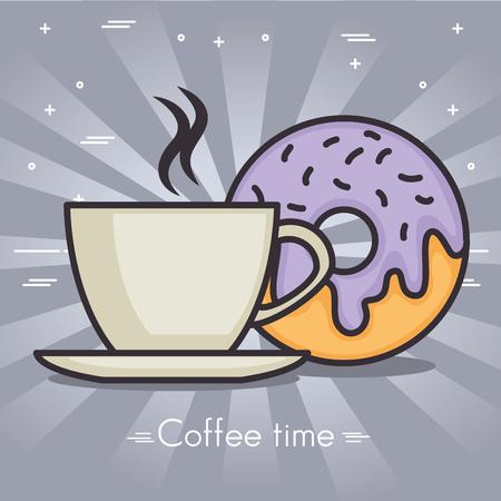 coffee time vector illustration graphic design icon Illustration