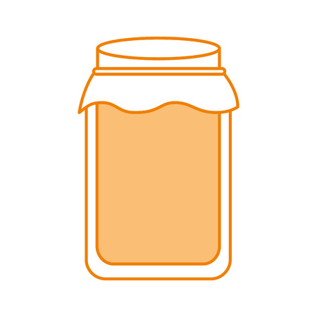 glass jar with golden cap filled with honey vector illustration 向量圖像