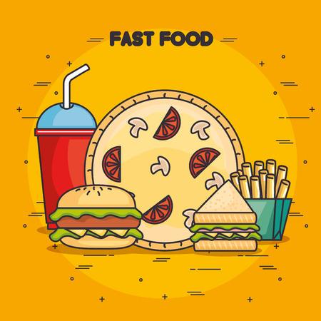 fast food vector illustration graphic design icon