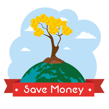 saving money concept vector illustration graphic design