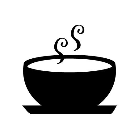 Köstliche Suppe Schüssel Lebensmittel der Saison Herbst Vektor-Illustration Standard-Bild - 86100544