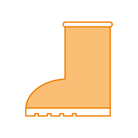 rubber boot rain seasonal icon style on white background vector illustration 向量圖像