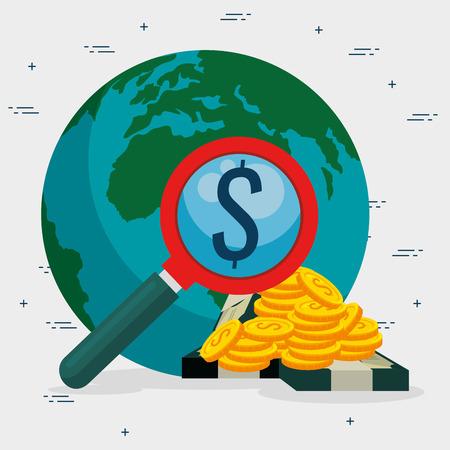 お金の概念ベクトル イラスト グラフィック デザインを保存