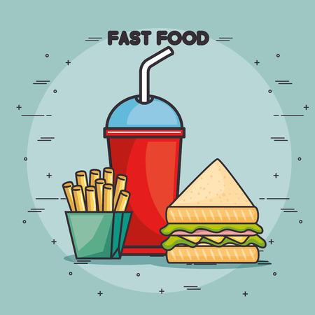 hot dog: fast food vector illustration graphic design icon