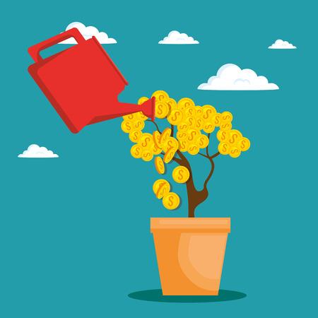 cash: saving money concept vector illustration graphic design