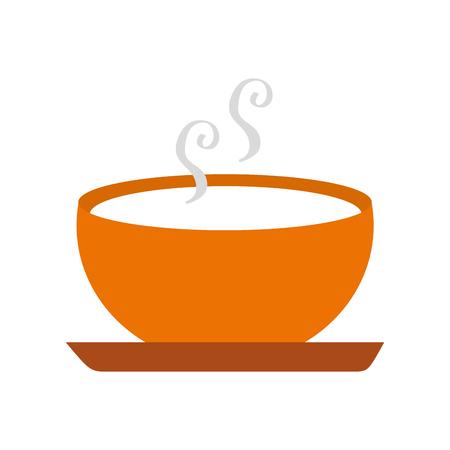 シーズン秋のベクトル図のおいしいスープ ボウル食品
