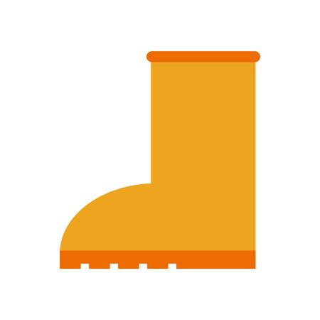 Caoutchouc course pluie icône de style reste sur fond blanc illustration vectorielle Banque d'images - 86100636