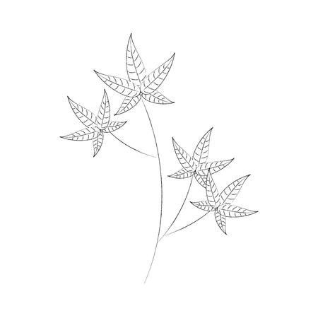 가을 나뭇 가지 단풍 단풍 식물 이미지 벡터 일러스트 레이션