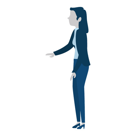 successful businesswoman avatar character vector illustration design