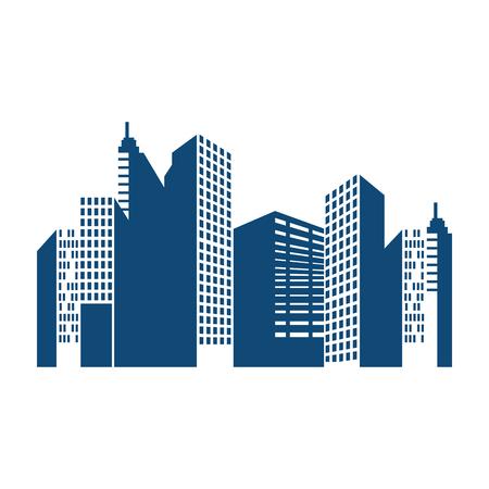 Gebouwen cityscape geïsoleerd pictogram vector illustratie ontwerp