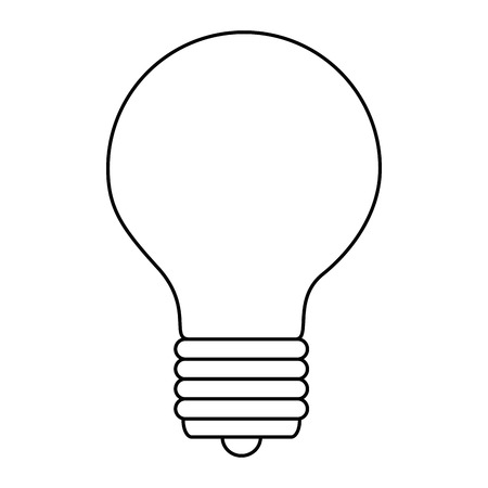 bulb light isolated icon vector illustration design Ilustracja
