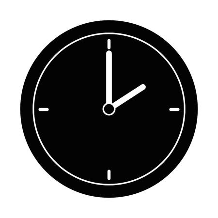 시간 시계 격리 된 아이콘 벡터 일러스트 레이 션 디자인