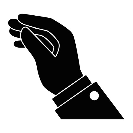 Menselijke hand vangen pictogram vector illustratie ontwerp Stockfoto - 86158939