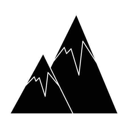 눈 덮인 산들 고립 된 아이콘 벡터 일러스트 디자인 스톡 콘텐츠 - 86158948