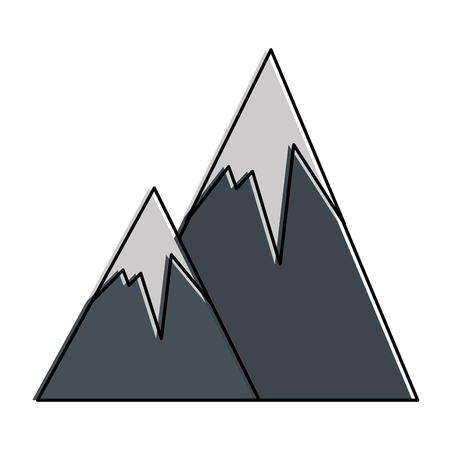 snowy mountains isolated icon vector illustration design