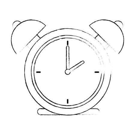 alarm time clock isolated icon vector illustration design Stock Photo