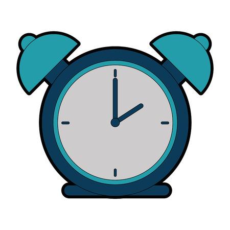 alarm time clock isolated icon vector illustration design Banco de Imagens