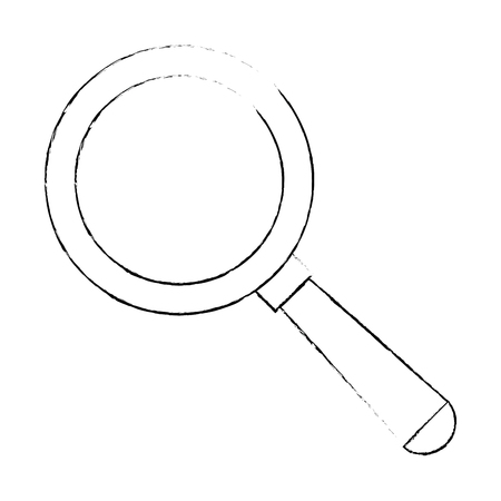 magnifying glass isolated icon vector illustration design Stock Illustration - 86159103