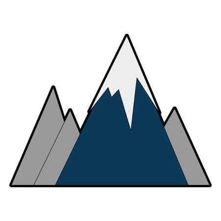 눈 덮인 산들 고립 된 아이콘 벡터 일러스트 디자인 스톡 콘텐츠 - 86159125