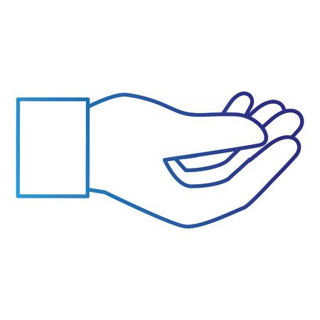 인간의 손 잡기 아이콘 벡터 일러스트 레이 션 디자인