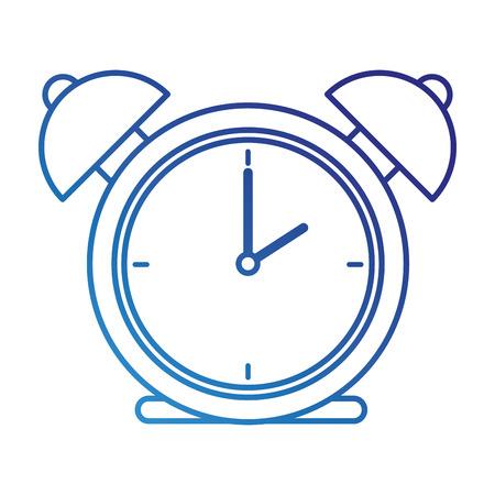 alarm time clock isolated icon vector illustration design Ilustração