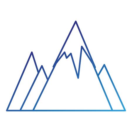 눈 덮인 산들 고립 된 아이콘 벡터 일러스트 디자인 스톡 콘텐츠 - 86159149