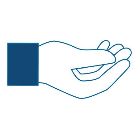 human hand catching icon vector illustration design Zdjęcie Seryjne