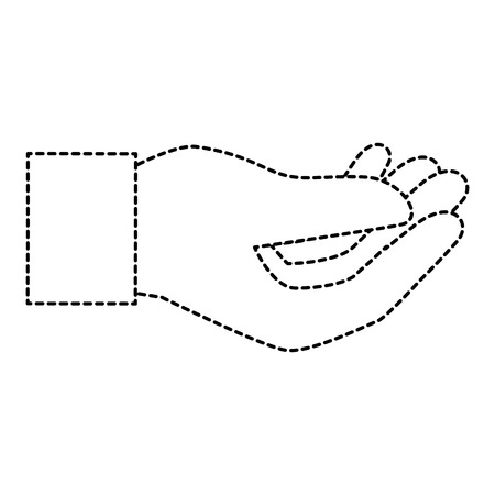 human hand catching icon vector illustration design 版權商用圖片