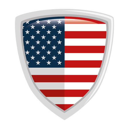united states of america shield vector illustration design Ilustração
