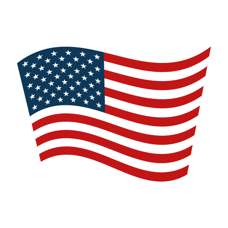 united states of america flag vector illustration design Çizim