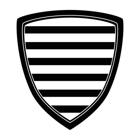 shield with stripes icon vector illustration design