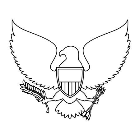 アメリカ合衆国のイーグル ベクトル イラスト デザイン 写真素材 - 86159359