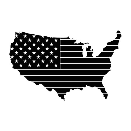 united states of america map vector illustration design Illustration