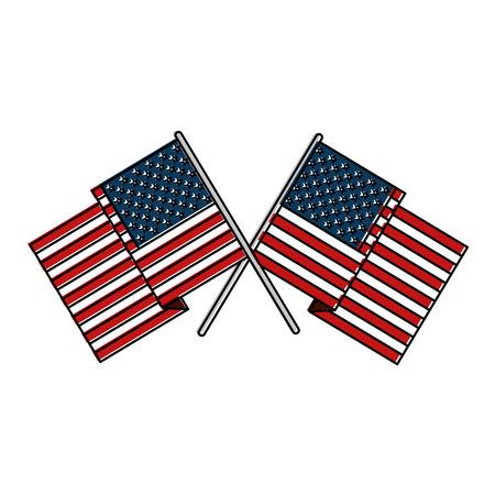 united states of america flag vector illustration design 向量圖像