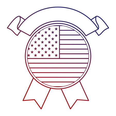 united states of america seal with ribbon vector illustration design