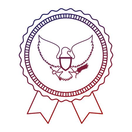 アメリカ合衆国のイーグル ベクトル イラスト デザイン  イラスト・ベクター素材