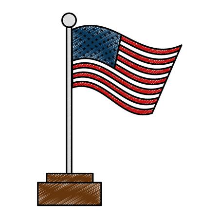 united states of america flag vector illustration design Иллюстрация