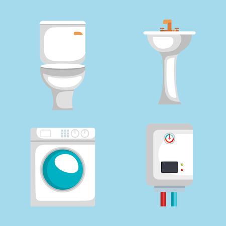 plumbing line set icons vector illustration design Illustration