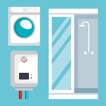 sanitair lijn set iconen vector illustratie ontwerp