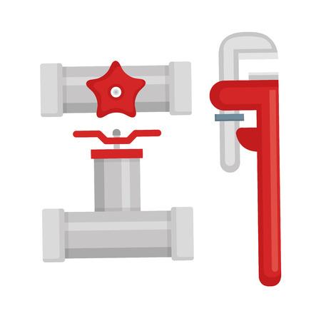ベクトル イラスト デザイン アイコンが設定される配管ライン ツール  イラスト・ベクター素材