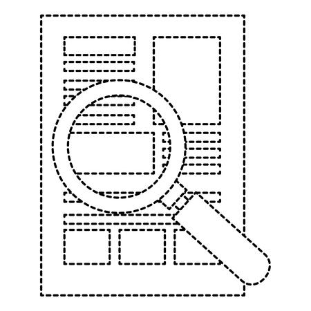 履歴書付きの虫眼鏡アイコン ベクトル イラスト デザインを分離しました。  イラスト・ベクター素材