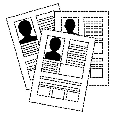 履歴書分離アイコン ベクトル イラスト デザイン  イラスト・ベクター素材