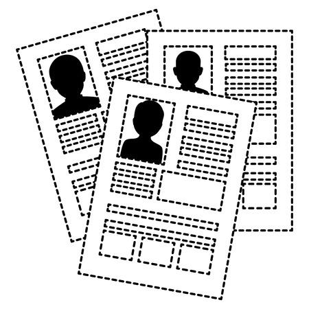 Curriculum vitae geïsoleerde pictogram vectorillustratieontwerp Stockfoto - 86159808