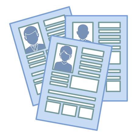 curriculum vitae geïsoleerde pictogram vectorillustratieontwerp Stock Illustratie