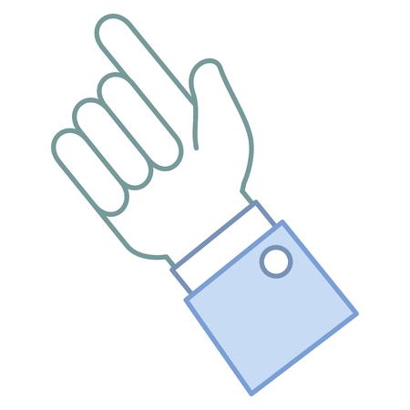 human hand touching icon vector illustration design Фото со стока - 86159868