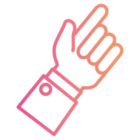 인간의 손에 감동 아이콘 벡터 일러스트 레이 션 디자인