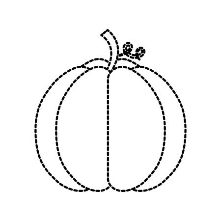 秋の季節のププッキン収穫自然ベクトルイラスト