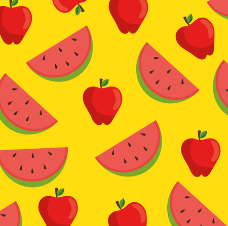 seamless fruit pattern vector illustration graphic design