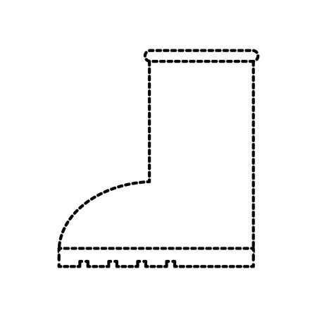 Stile stagionale dell'icona della pioggia dello stivale di gomma sull'illustrazione bianca di vettore del fondo Archivio Fotografico - 86318320