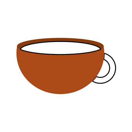 cup of beverage refreshment aroma liquid vector illustration